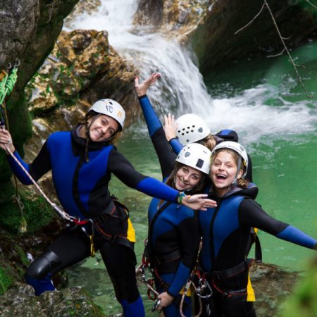 Best canyoning Lake Bled Slovenia Adventure Activity